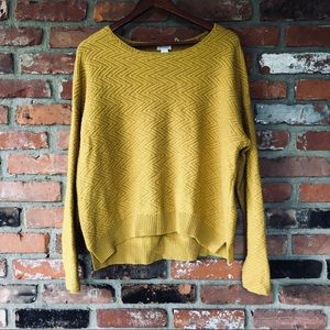 CASLON Relaxed Zigzag Stitch Sweater Large